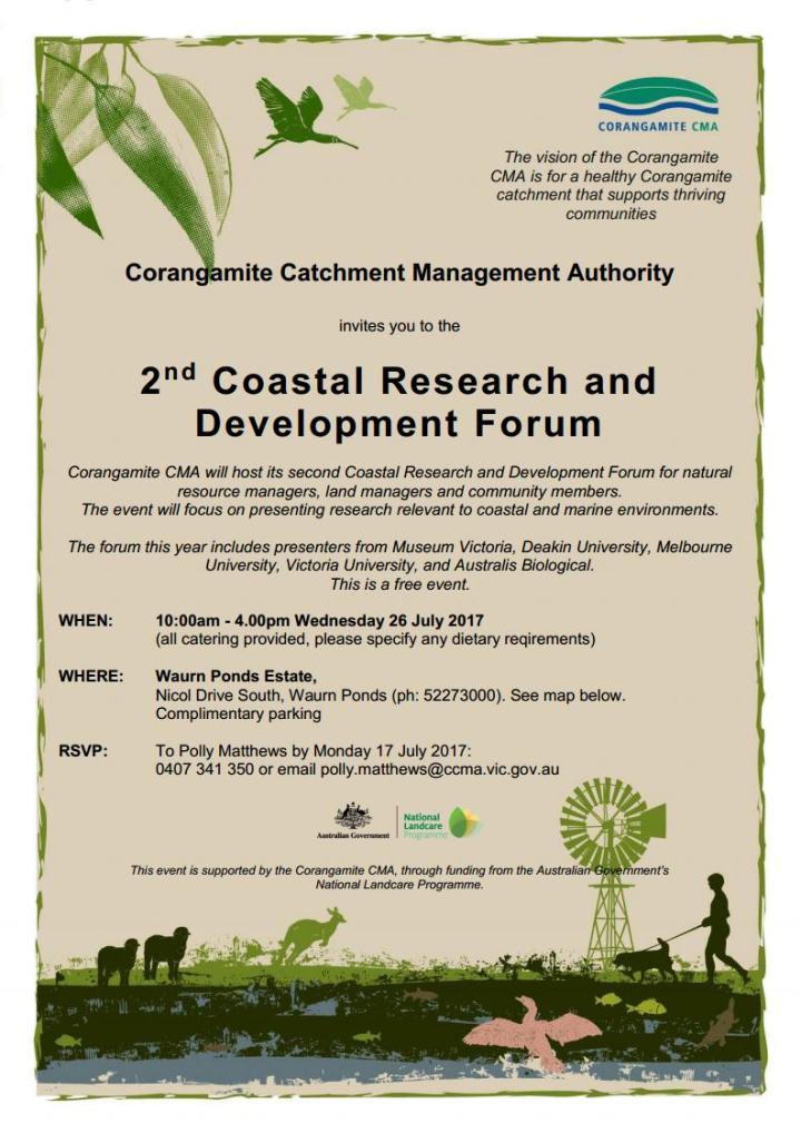 Corangamite Coastal R D Forum invite 2017jpg