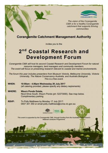 Corangamite Coastal R& D Forum invite 2017 V2jpg_Page1