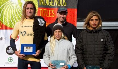 Australian Indigenous surf junior boys winners